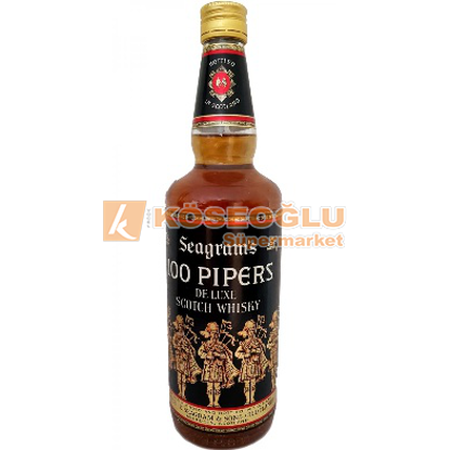 100 PIPERS SCOTLAND 70 CL resmi